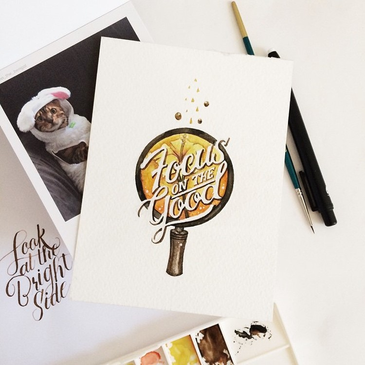 Creative Watercolor Lettering Quotes by june Digan Creative Watercolor Lettering Quotes by June Digan