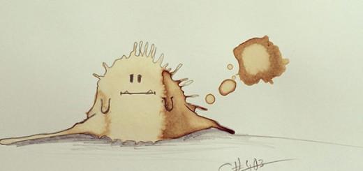 Random Monster Coffee Stains Drawings