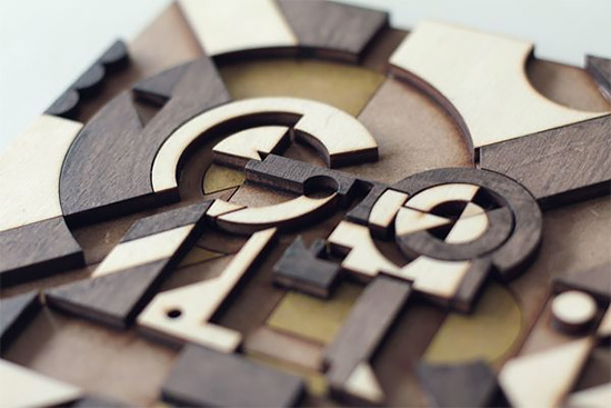Detailed Wood Lettering by Future Marquetry