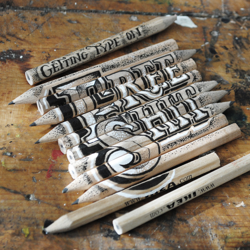 Fantastic and Creative Lettering Font Design by Rob Draper Fantastic Lettering Font Design by Rob Draper