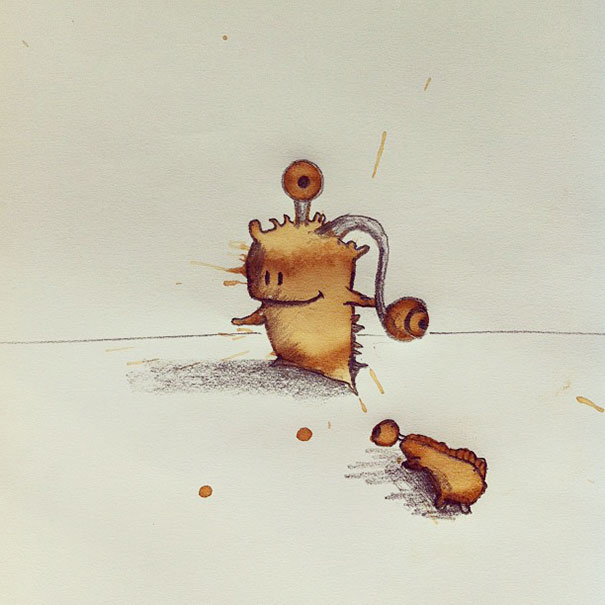 Funny Monster Coffee Stains Random Monster Coffee Stains Drawings