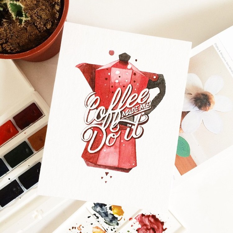 Hand Lettering Quotes by june Digan Creative Watercolor Lettering Quotes by June Digan