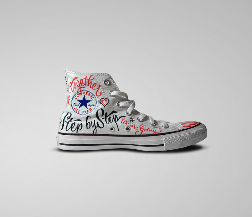 Lettering shoes design by panco sassano1 Creative Lettering Design by Panco Sassano