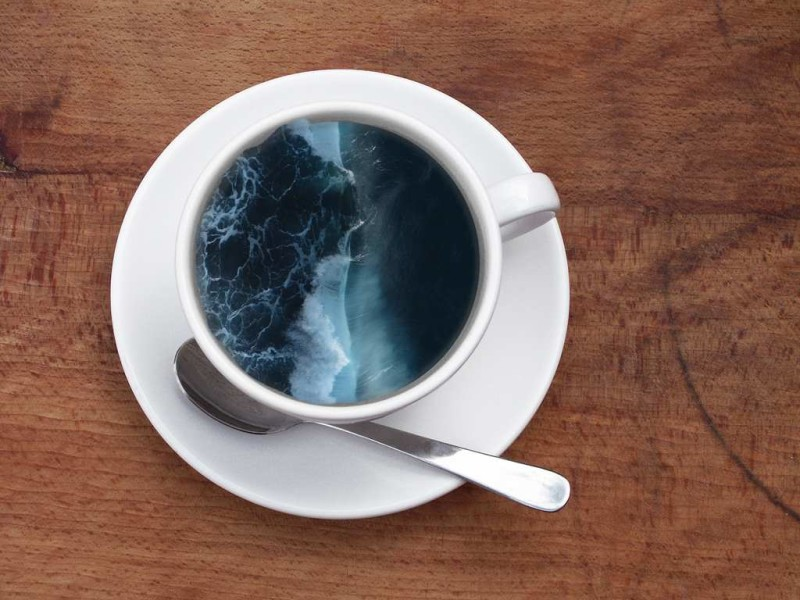 Mind blowing Manipulations Photos by Victoria Siemer Unique Coffee Cup Manipulations by Victoria Siemer