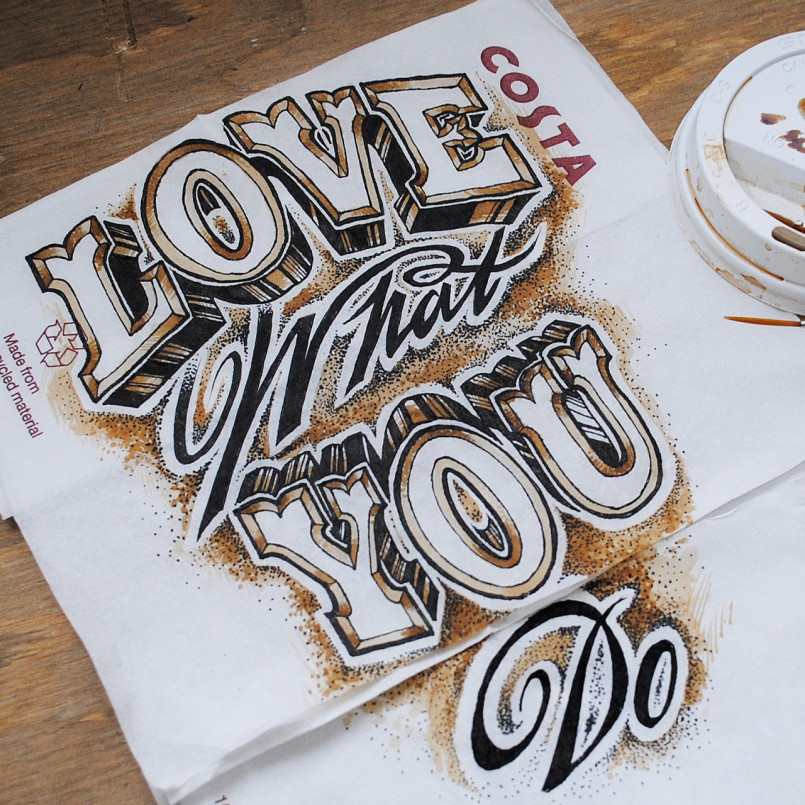 Outstanding Lettering Font Design by Rob Draper Fantastic Lettering Font Design by Rob Draper