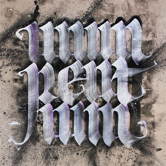 Sweet Calligraphy Design by neils shoe meulman
