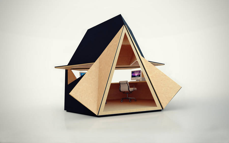 Unique Portable Wooden Home Office 002 Unique Portable Wooden Home Office