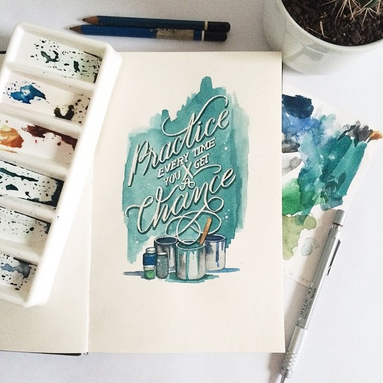 Wonderful Watercolor Lettering Quotes by june Digan Creative Watercolor Lettering Quotes by June Digan
