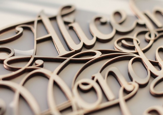 Wood Lettering & Design by Future Marquetry
