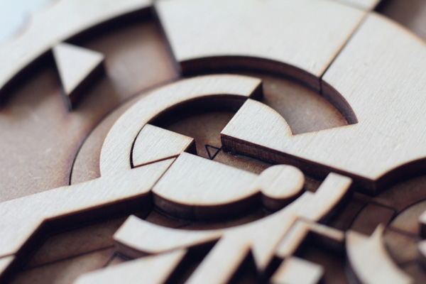 Wood Lettering by Future Marquetry