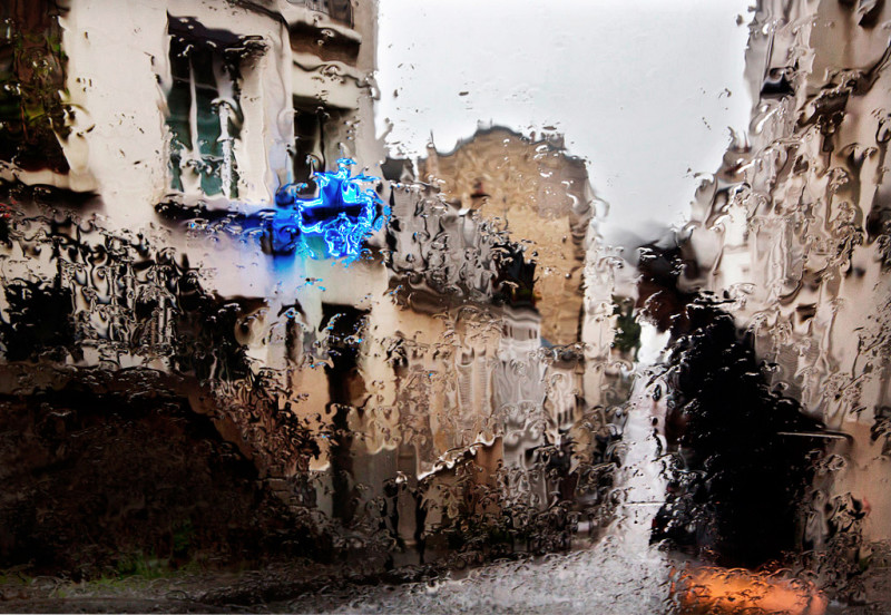 Beautiful Paris Photo in The Rain by Christophe Jacrot