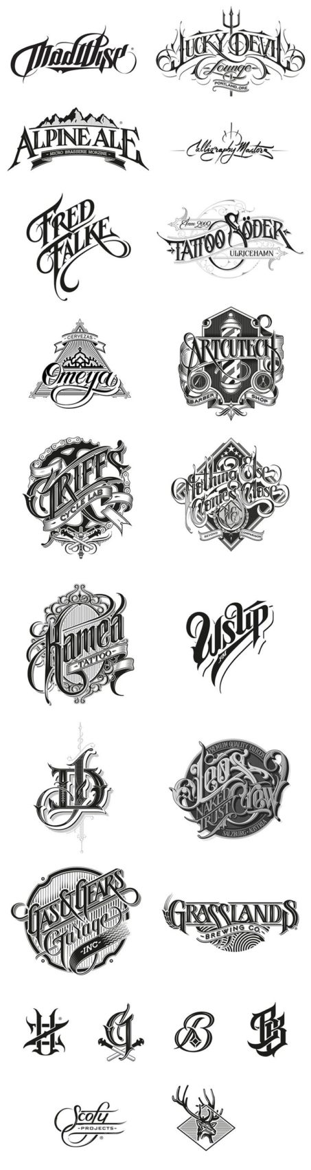 Awesome Lettering font design for Your Own Tattoo | 99inspiration