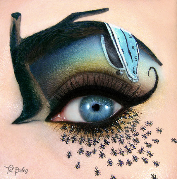 Awesome eye art by Tal Peleg Creative Art With Use Eyes As A Canvas by Tal Peleg