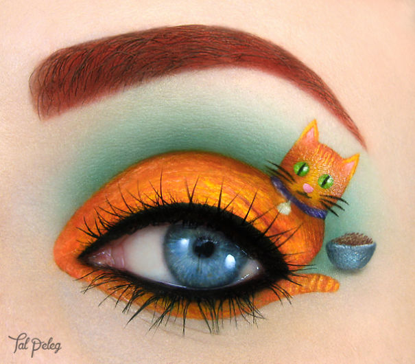 Beutiful Eye Canvas art by Tal Paleg Creative Art With Use Eyes As A Canvas by Tal Peleg