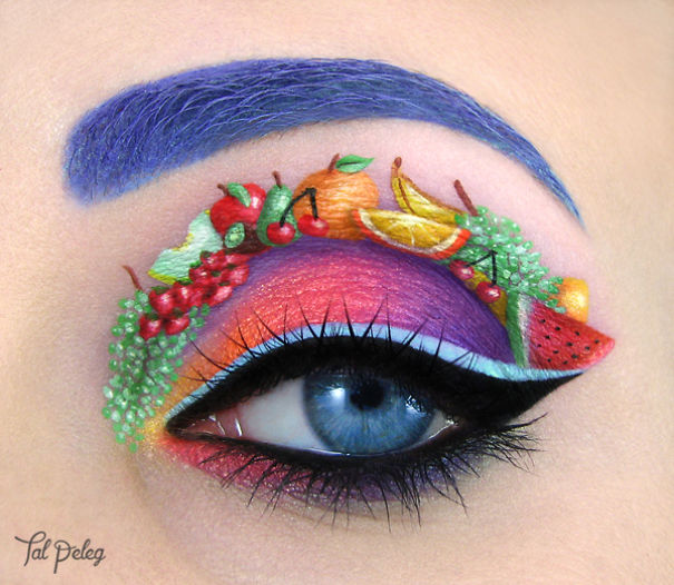 Beutiful Eye Makeup by Tal Paleg Creative Art With Use Eyes As A Canvas by Tal Peleg