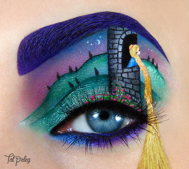 Beutiful Eye art Canvas Makeup by Tal Paleg Creative Art With Use Eyes As A Canvas by Tal Peleg