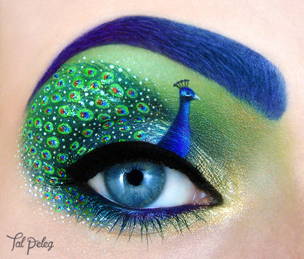 Creative eye art by Tal Peleg Creative Art With Use Eyes As A Canvas by Tal Peleg