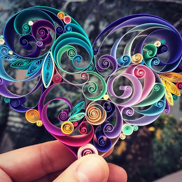Creative paper art design quilling sena runa Beauty Paper Quill Art Designs by Sena Runa