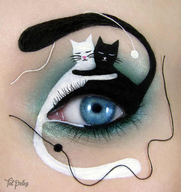 Cute eye art by Tal Peleg Creative Art With Use Eyes As A Canvas by Tal Peleg