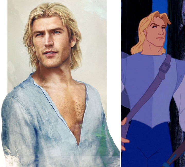 John Smith Pocahontas In Real Life How Disney Princes Would Look Like in Real Life