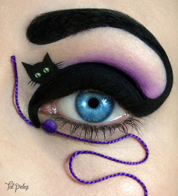 Unique Eye Makeup by Tal Paleg Creative Art With Use Eyes As A Canvas by Tal Peleg