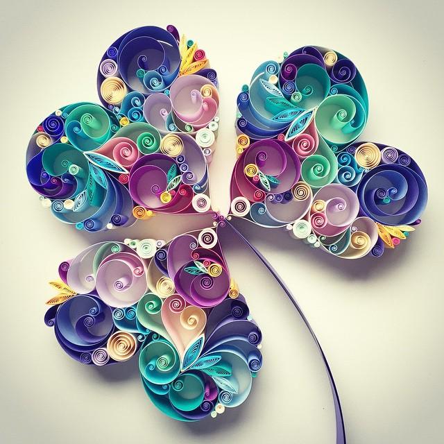 Art Designs Part - 41: Beauty Paper Quill Art Designs By Sena Runa