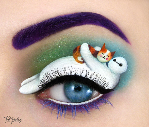 Unique eye art by Tal Peleg Creative Art With Use Eyes As A Canvas by Tal Peleg