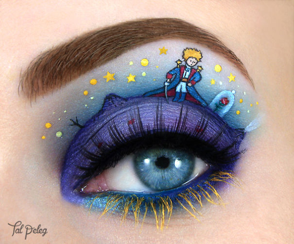Unique eye art design by Tal Peleg Creative Art With Use Eyes As A Canvas by Tal Peleg