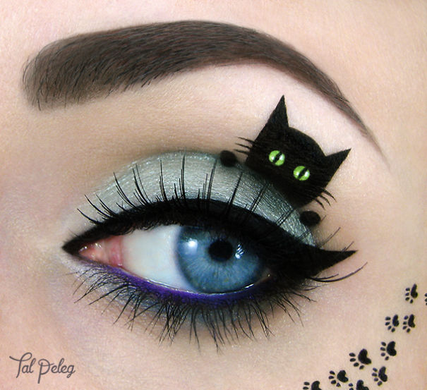 Unique eye canvas by Tal Peleg Creative Art With Use Eyes As A Canvas by Tal Peleg