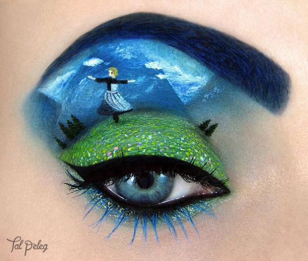 Creative Art With Use Eyes As A Canvas by Tal Peleg