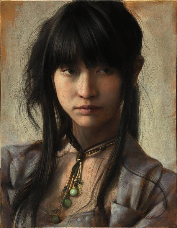 Incredible Detailed Painting Portrait by Osamu Obi