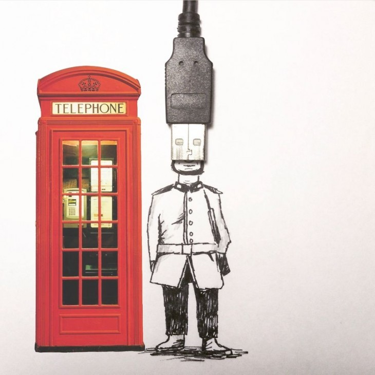 Amazing Illustrations Using Everyday Objects Creative Illustrations Using Everyday Objects