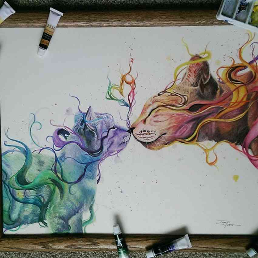 Beautiful Watercolor Drawings by Dany Lizeth Mind Blowing Watercolor Drawings by Dany Lizeth