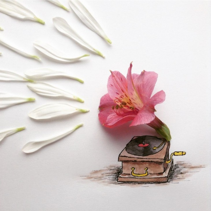 Creative Illustrations Using Everyday Objects 01