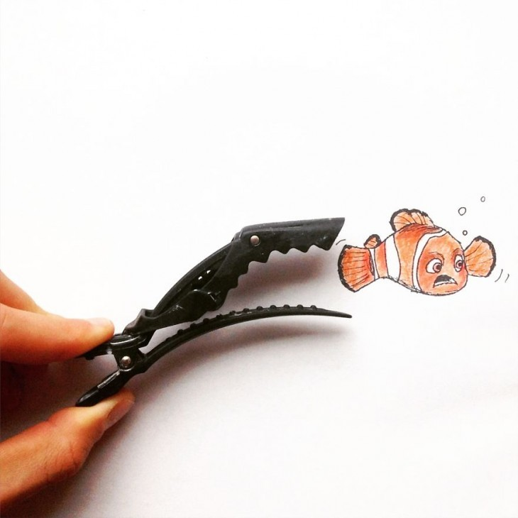 Creative Illustrations Using Everyday Objects 05