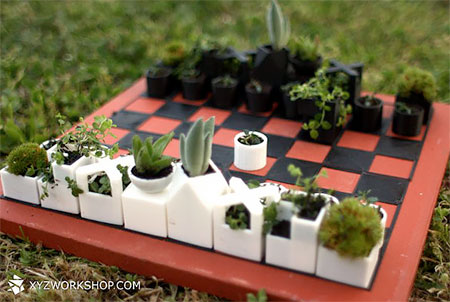 Creative Design : Planter Chess Set