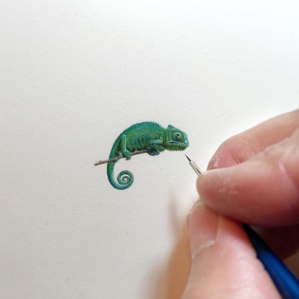Incredible tiny paintings animals by karen libecap 1024x1024 Incredible Tiny Paintings By Karen Libecap