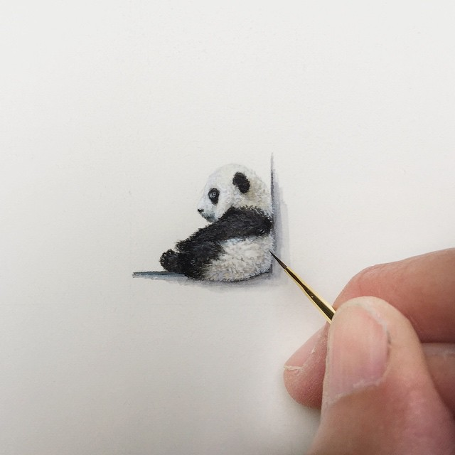 Incredible Tiny Paintings By Karen Libecap