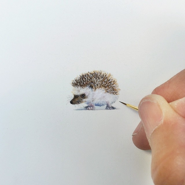 Incredible tiny paintings by karen libecap Incredible Tiny Paintings By Karen Libecap