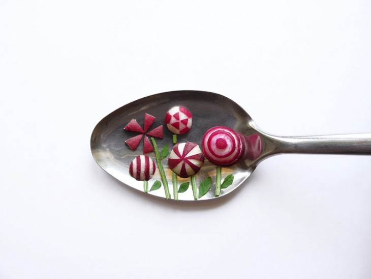 Miniature Masterpieces Created Using Food And Spoons by Ioana Vanc Miniature Masterpieces Created Using Food And Spoons