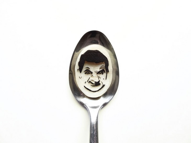 Miniature Masterpieces by Ioana Vanc 10 Miniature Masterpieces Created Using Food And Spoons