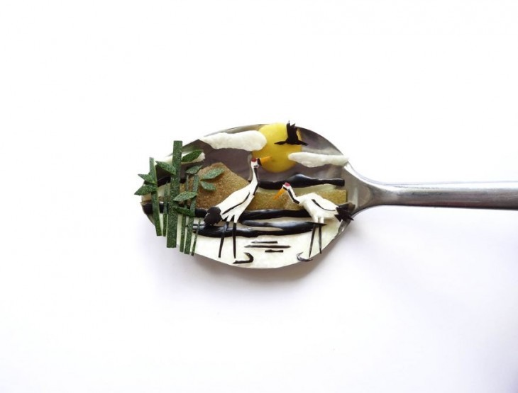 Miniature Masterpieces by Ioana Vanc 11 Miniature Masterpieces Created Using Food And Spoons