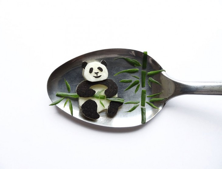 Miniature Masterpieces by Ioana Vanc 17 Miniature Masterpieces Created Using Food And Spoons