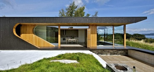 Natural Cabin Decor in Norwegian Island Full of Peace and Relaxing Atmosphere