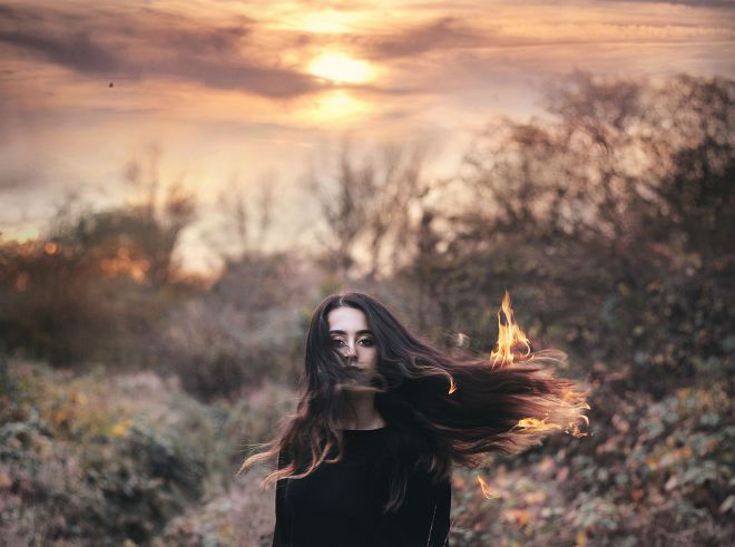 Self Portraits Photography by Cansu ûzkaraca Beauty Conceptual Self Portraits Photography by Cansu Özkaraca
