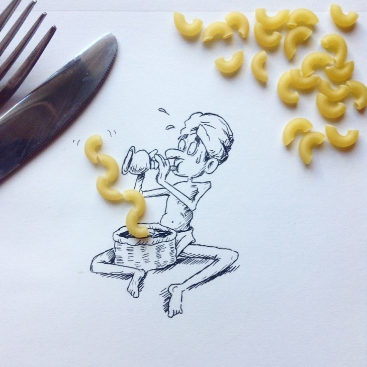 Unique Illustrations Using Everyday Objects 07 Creative Illustrations Using Everyday Objects