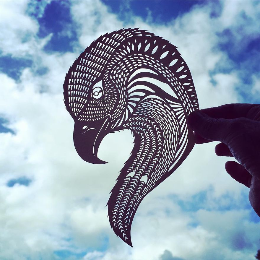 Unique paper cut design by Jo Chorny 03 Gorgeous Paper Cut Outs And Contrasts Them With The Sky Background