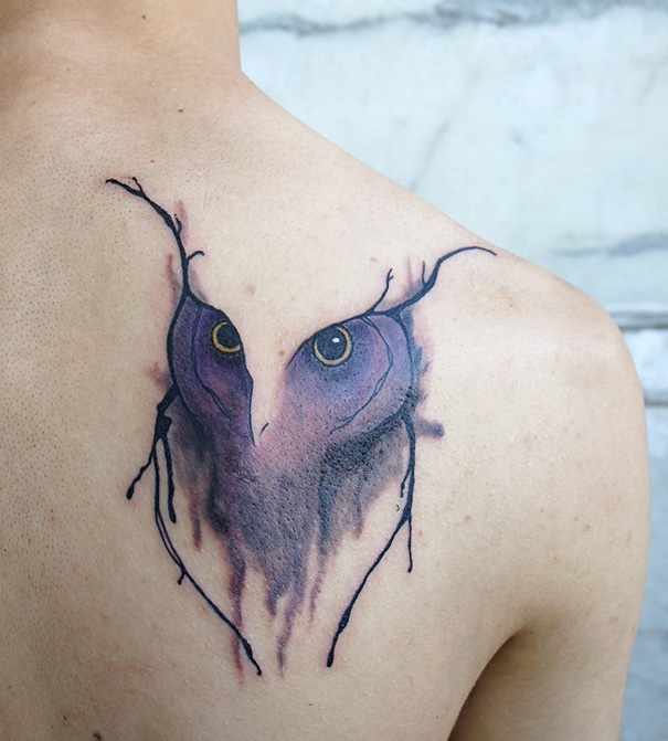 linear animal tattoo 7 Beautiful Tattoos Design That Flowing Naturally In the Body