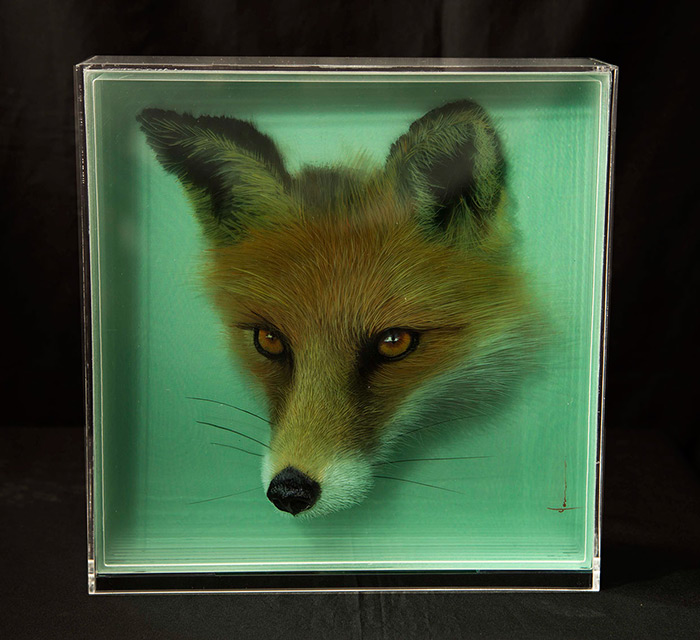 3D Paintings of Animals by Yosman Botero 3D Paintings of Animals on Layers of Glass by Yosman Botero