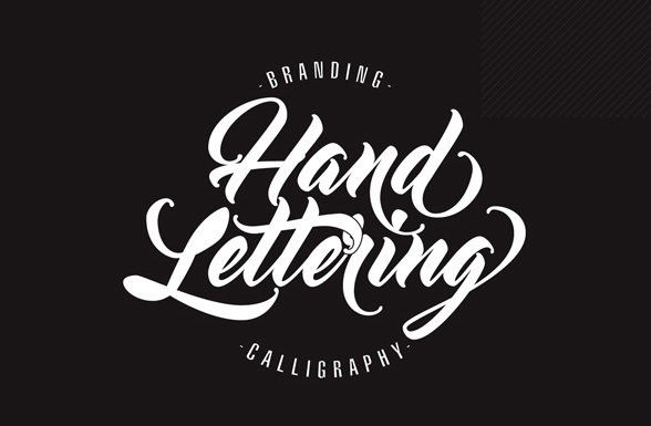 Beauty hand lettering font